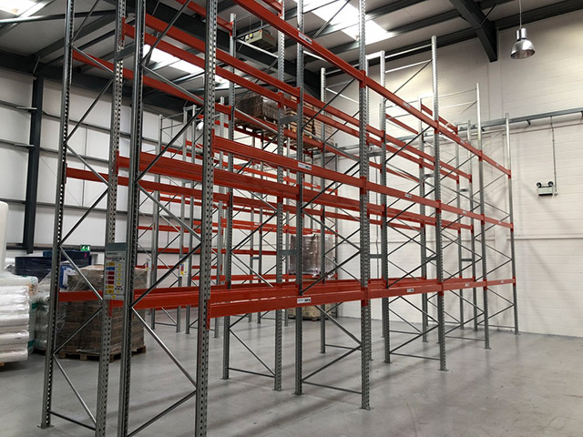 New pallet racking and shelving for Grampian Packaging Supplies