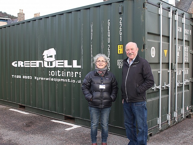 Container company supports Ballater flood relief